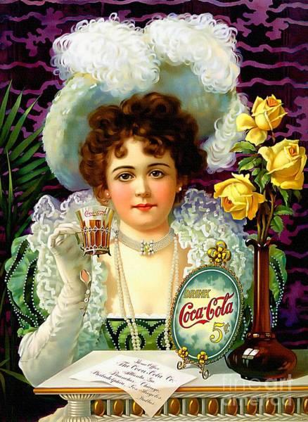 Soda Pop Painting - Vintage Coca - Cola - Ad  by Ian Gledhill