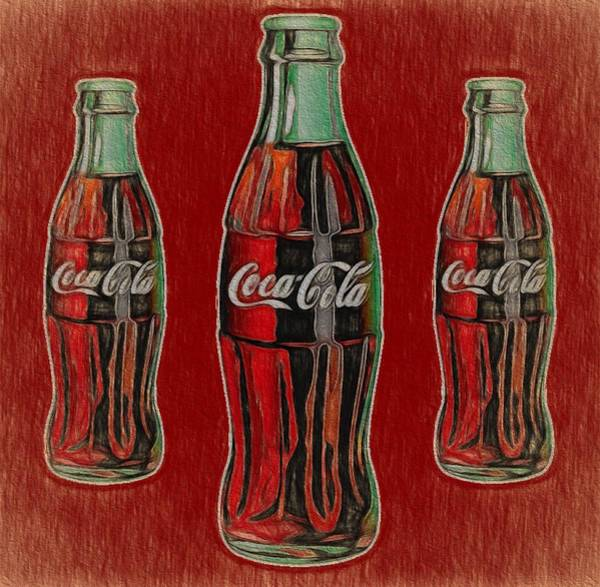 Wall Art - Painting - Vintage Coca Cola Bottles by Dan Sproul