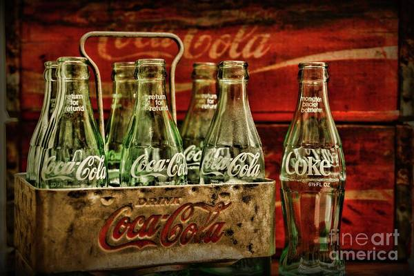 Wall Art - Photograph - Vintage Coca Cola Metal Carrier  by Paul Ward