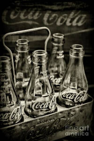 Wall Art - Photograph - Vintage Coca Cola Metal Six Pack Carrier  by Paul Ward