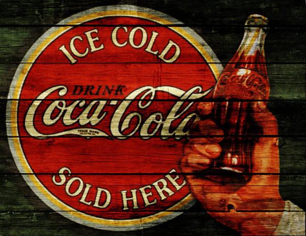 Soda Pop Mixed Media - Vintage Coca Cola Sign 1b by Brian Reaves