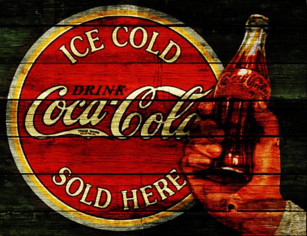 Soda Pop Mixed Media - Vintage Coca Cola Sign 1c by Brian Reaves