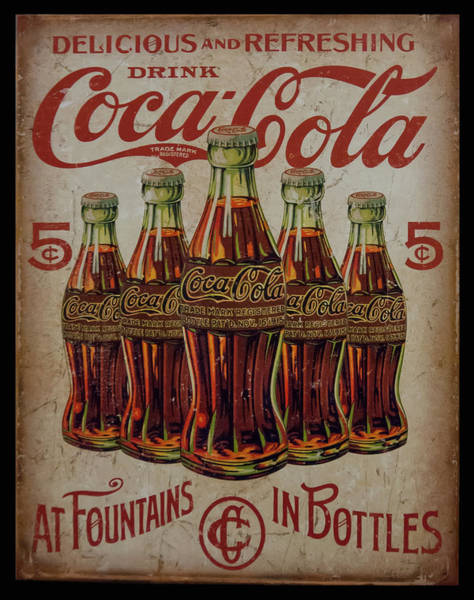 Photograph - vintage Coca Cola sign by Chris Flees