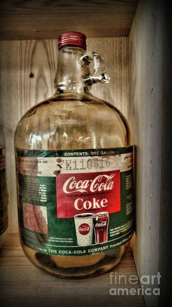 Wall Art - Photograph - Vintage Coca Cola Syrup Bottle by Paul Ward