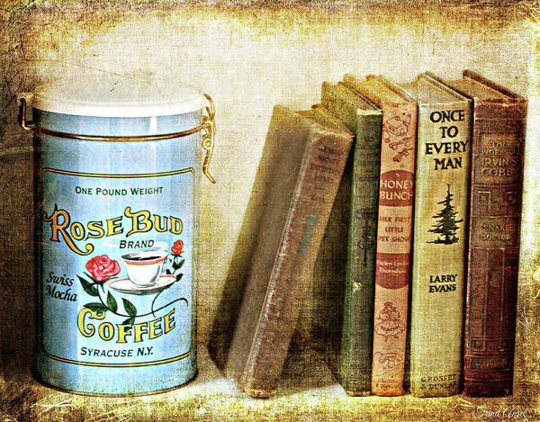 Photograph - Vintage Coffee And Books by Trina Ansel