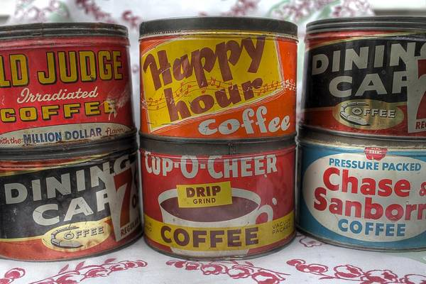 Wall Art - Photograph - Vintage Coffee Cans by Jane Linders