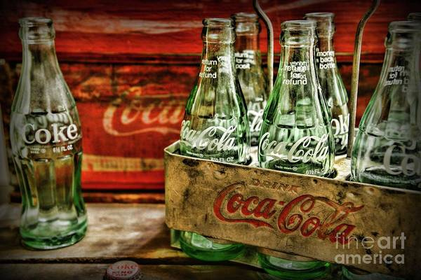 Wall Art - Photograph - Vintage Coke Metal Six Pack Carrier  by Paul Ward
