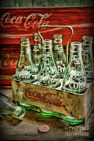 Wall Art - Photograph - Vintage Coke Six Pack Carrier  by Paul Ward