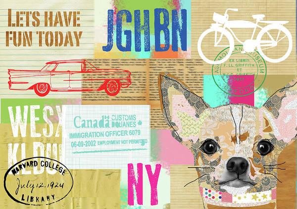 Vintage Collage Chihuahua Art Print