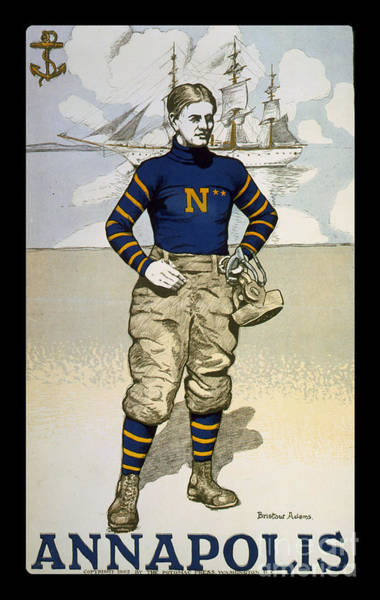 Wall Art - Photograph - Vintage College Football Annapolis by Edward Fielding