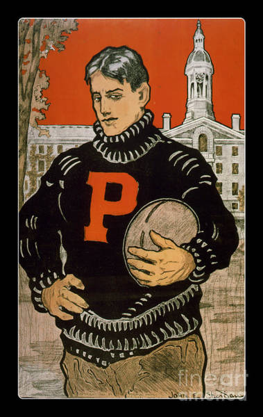 Painting - Vintage College Football Princeton by Edward Fielding