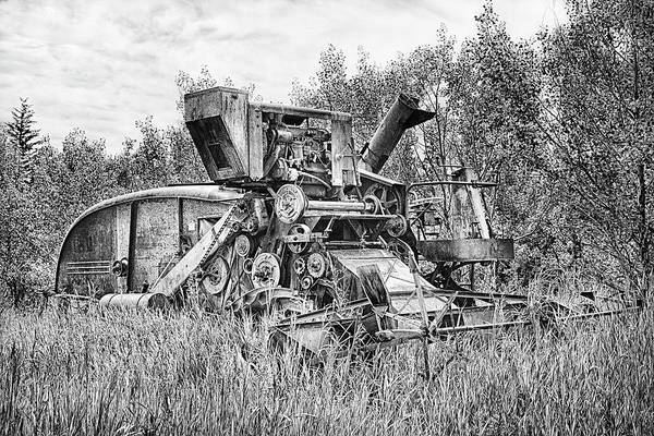 Photograph - Vintage Combine Harvester by Theresa Tahara