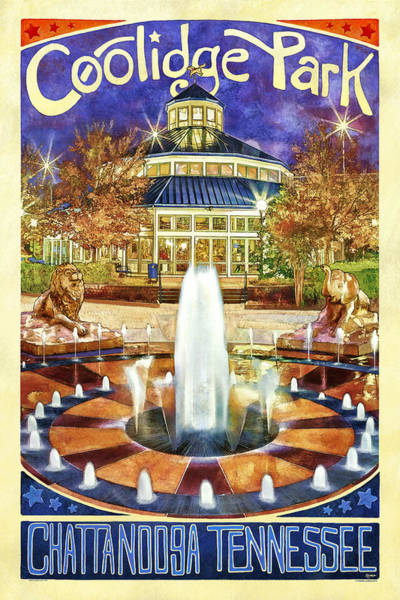 Photograph - Vintage Coolidge Park Poster by Steven Llorca