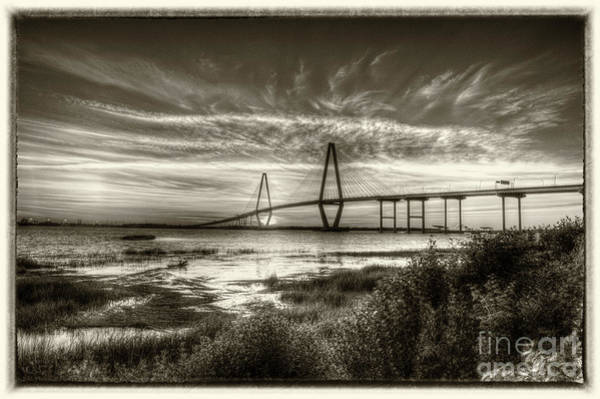 Photograph - Vintage Cooper River Bridge by Dale Powell