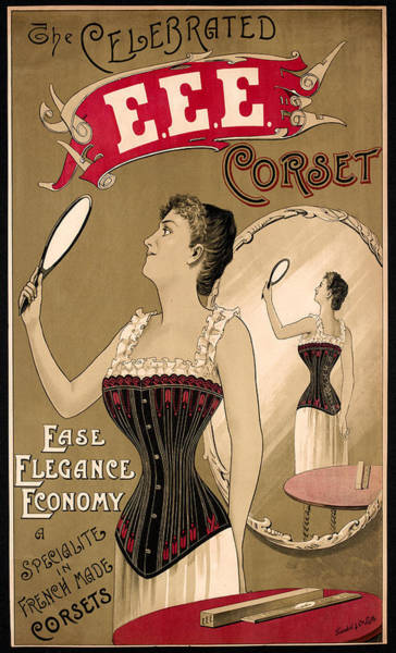 Photograph - Vintage Corset Ad 1890 by Andrew Fare