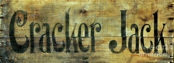 Wall Art - Photograph - Vintage Cracker Jack Sign by Jon Neidert
