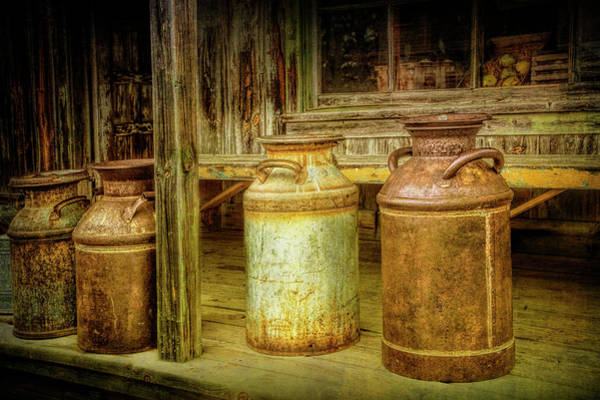 Photograph - Vintage Creamery Cans by Randall Nyhof