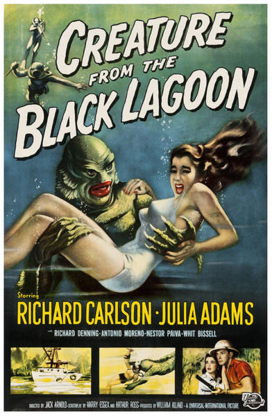 Digital Art - Vintage Creature From The Black Lagoon Poster by Joy McKenzie