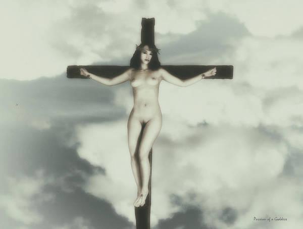 Crucifiction Wall Art - Photograph - Vintage Crucified Woman by Ramon Martinez