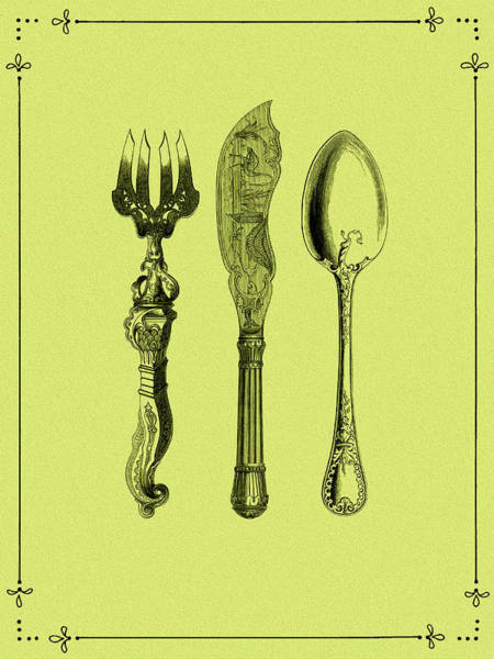 Wall Art - Photograph - Vintage Cutlery 4 by Mark Rogan