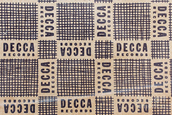 Photograph - Vintage Decca Records Pattern by Edward Fielding