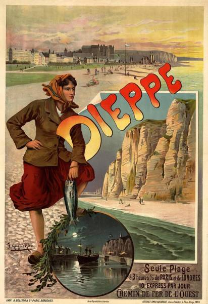 Photograph - Vintage Dieppe Advertisement by Andrew Fare