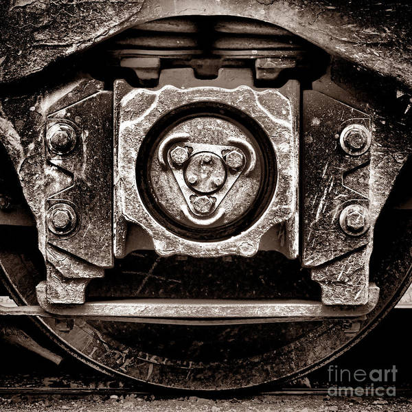 Wall Art - Photograph - Vintage Diesel Engine Locomotive Truck by Olivier Le Queinec