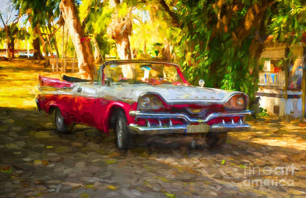 Photograph - Vintage Dodge Custom Royal 1957 by Les Palenik