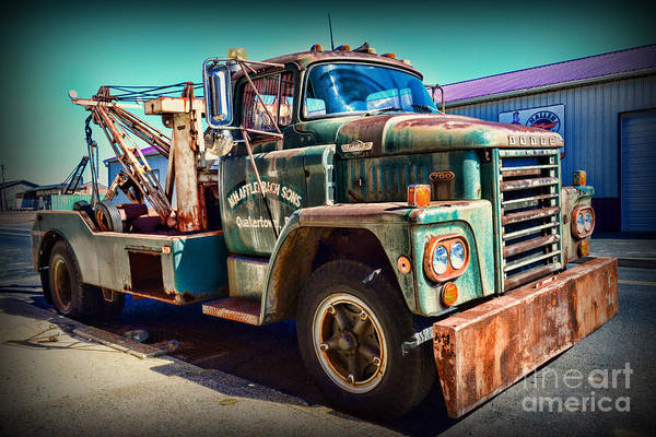 Wall Art - Photograph - Vintage Dodge Tow Truck by Paul Ward