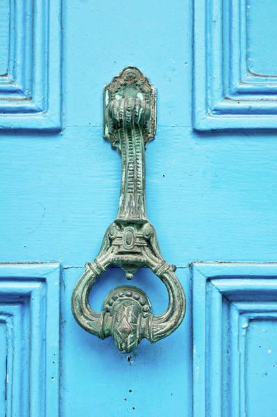 Lock Gates Photograph - Vintage Door Knocker by Tom Gowanlock