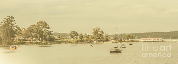 Sailing Photograph - Vintage Dover Harbour Tasmania by Jorgo Photography - Wall Art Gallery