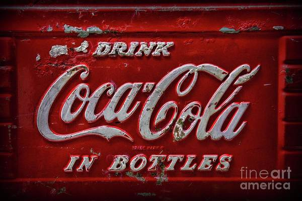Wall Art - Photograph - Vintage Drink Coca Cola Cooler by Paul Ward