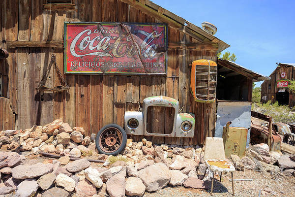 Drink Coca Cola Photograph - Vintage Drink Coca-cola Sign by Edward Fielding