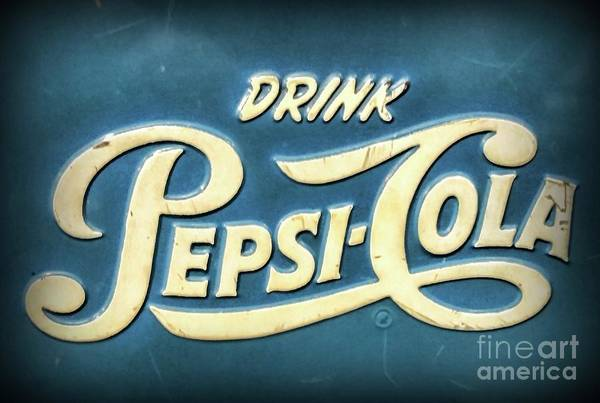 Wall Art - Photograph - Vintage Drink Pepsi Cola Cooler by Paul Ward