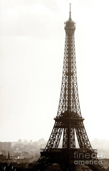 Wall Art - Photograph - Vintage Eiffel Tower Silhouette by John Rizzuto