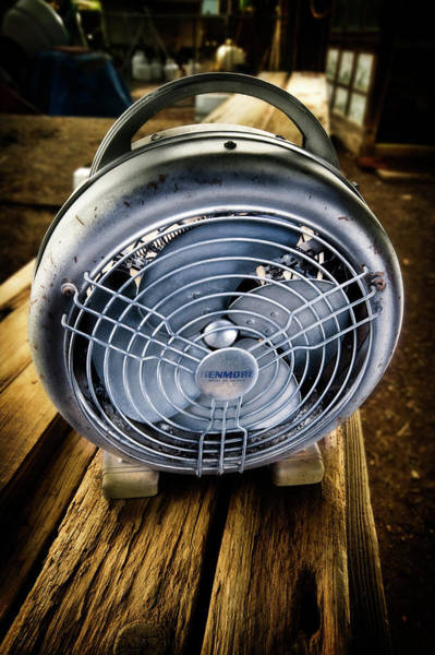 Wall Art - Photograph - Vintage Electric Heater With Fan by YoPedro