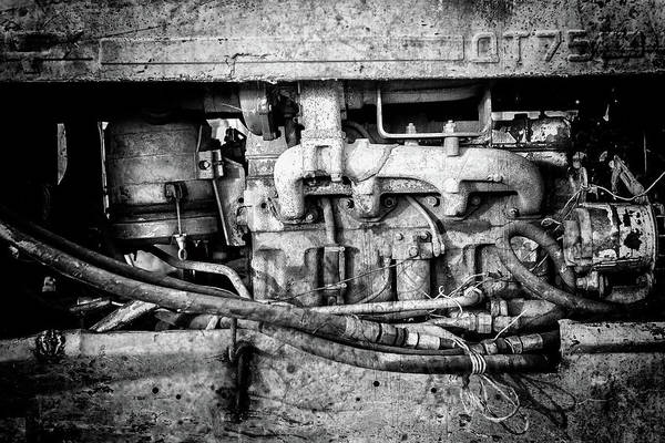 Photograph - Vintage Engine Grunge by John Williams
