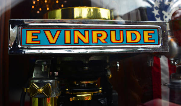 Outboard Engine Photograph - Vintage Evinrude Outboard Motor by David Lee Thompson