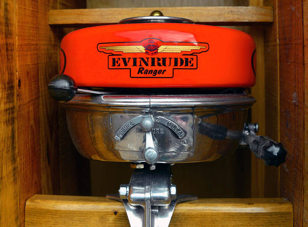 Outboard Engine Photograph - Vintage Evinrude Ranger by David Lee Thompson