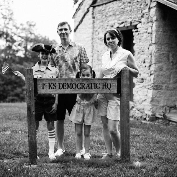 Wall Art - Photograph - Vintage Family With Sign At Stone by Gillham Studios