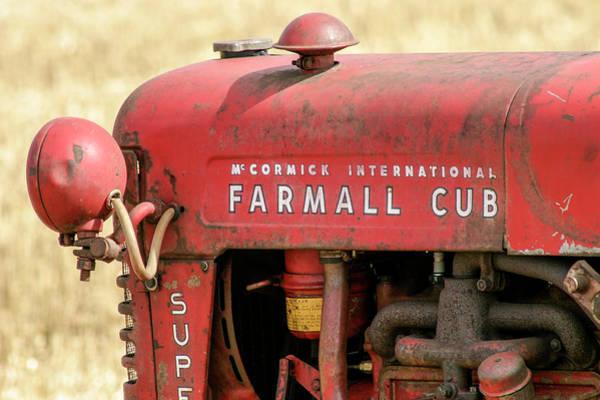 Mccormick Photograph - Vintage Farmall Cub Super Tractor by Richard Nixon