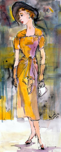 Wall Art - Painting - Vintage Fashion Chic by Ginette Callaway