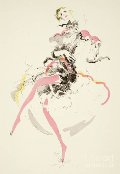 Wall Art - Drawing - Vintage Fashion Plate Twenties Dancer by German School