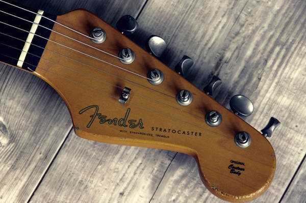 Wall Art - Photograph - Vintage Fender Stratocaster Head by Daniel Hagerman