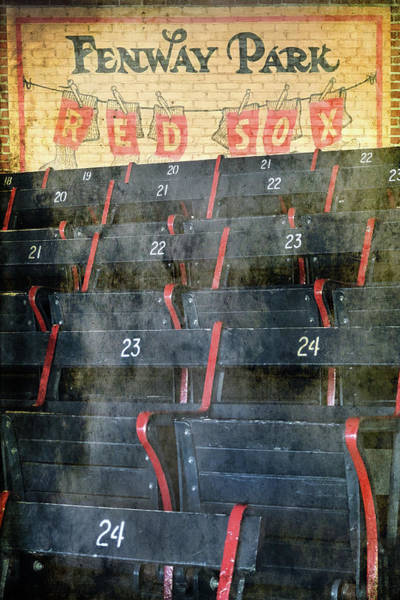 Photograph - Vintage Fenway Park Blue Seats by Joann Vitali