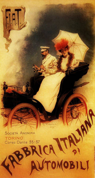 Photograph - Vintage Fiat Ad 1899 by Andrew Fare