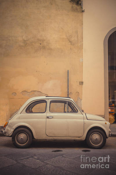 Photograph - Vintage Fiat In Italy by Edward Fielding