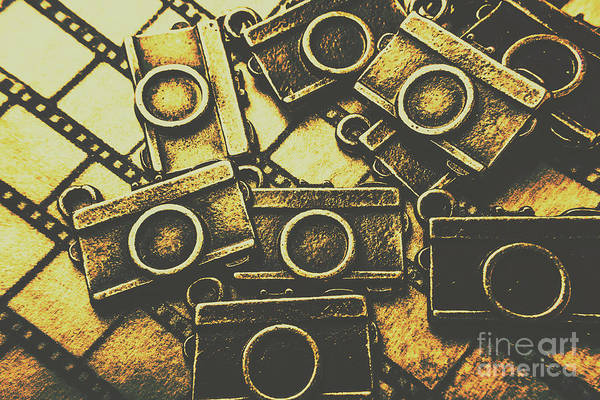 Roll Photograph - Vintage Film Camera Scene by Jorgo Photography - Wall Art Gallery