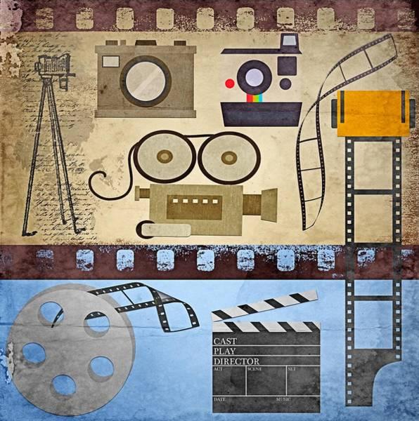 Wall Art - Digital Art - Vintage Film  by Steve Ohlsen