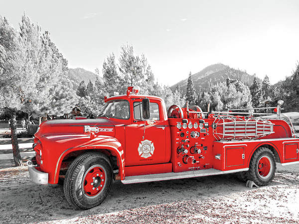 Photograph - Vintage Fire Truck by Pacific Northwest Imagery